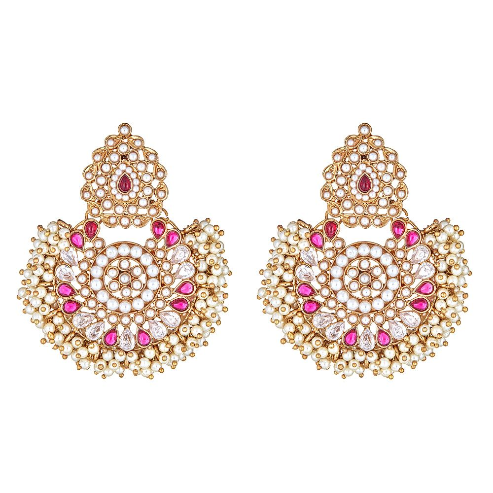 Blossom Pearly Earrings in Pink