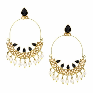 Dahi Earrings in Onyx