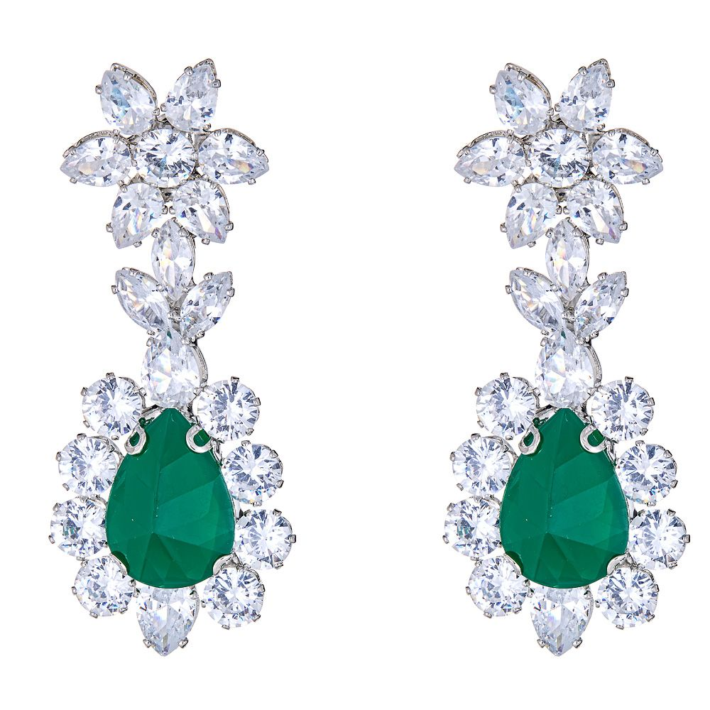 Daja Earrings in Emerald