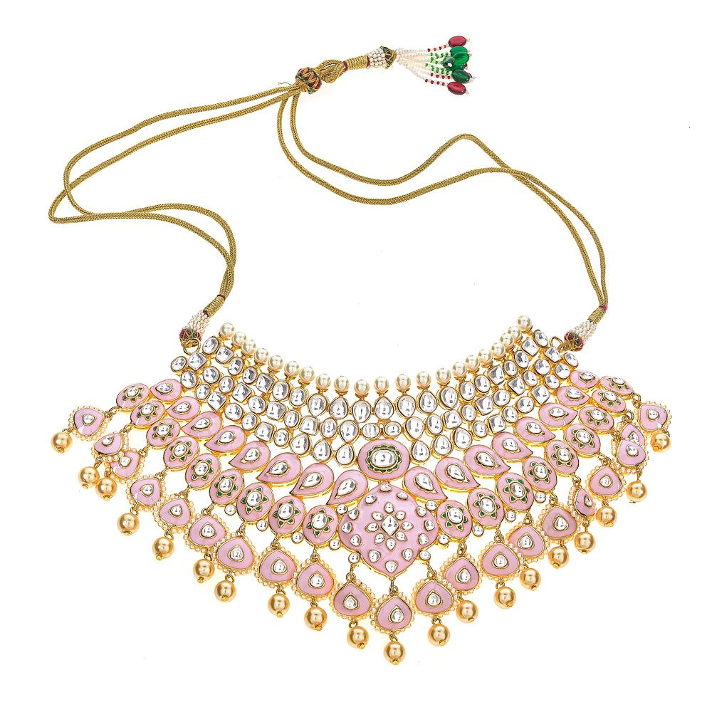 Shuchi Necklace in Baby Pink
