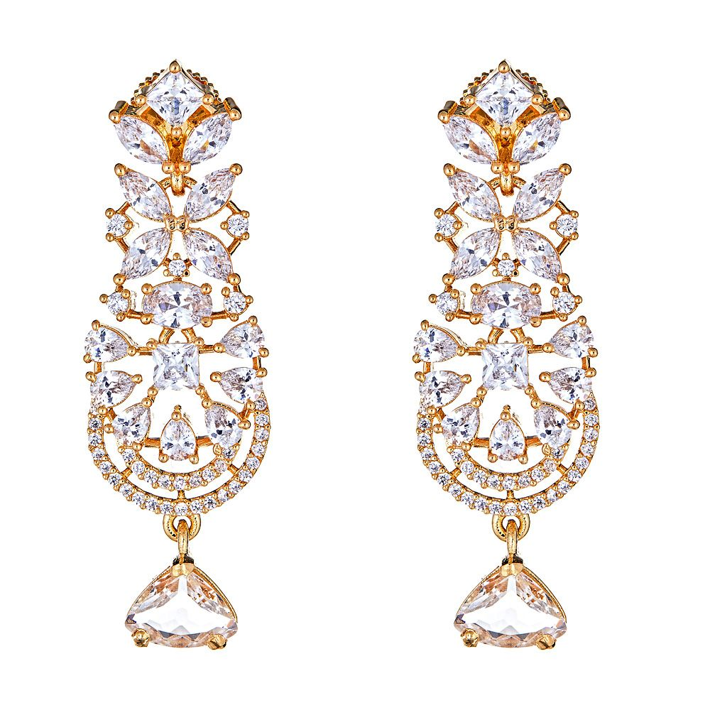 Divya Glass Drop Earrings