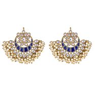Esma Crescent Earrings in Blue