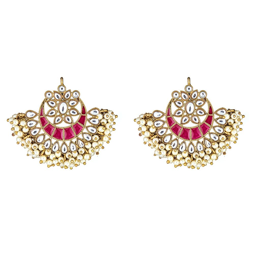 Esma Crescent Earrings in Red