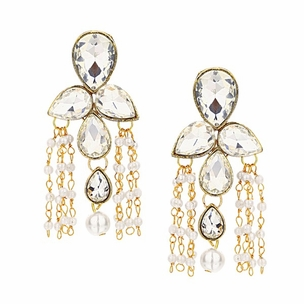 Ethereal Floral Pearl Danglers