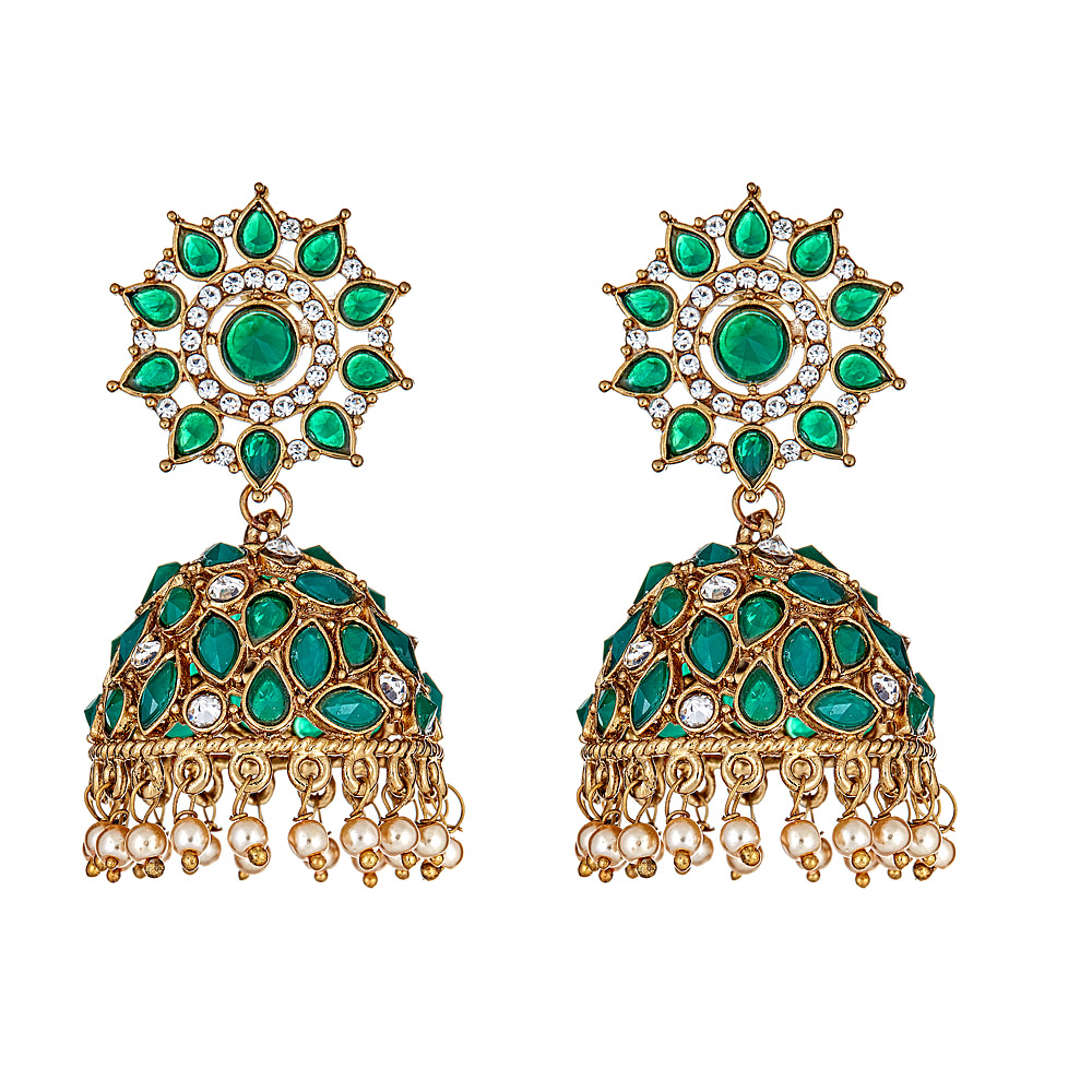 Fian Drop Earrings in Emerald