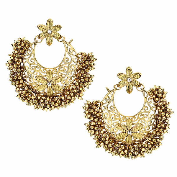 Floral Gold Earrings