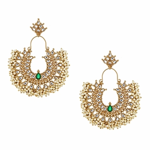 Gatsby Earrings in Emerald