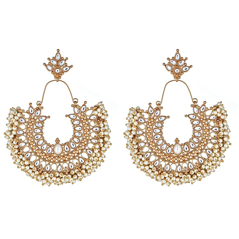Gatsby Earrings in Pearl