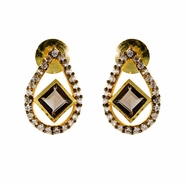 Gianna Earrings in Smokey Topaz