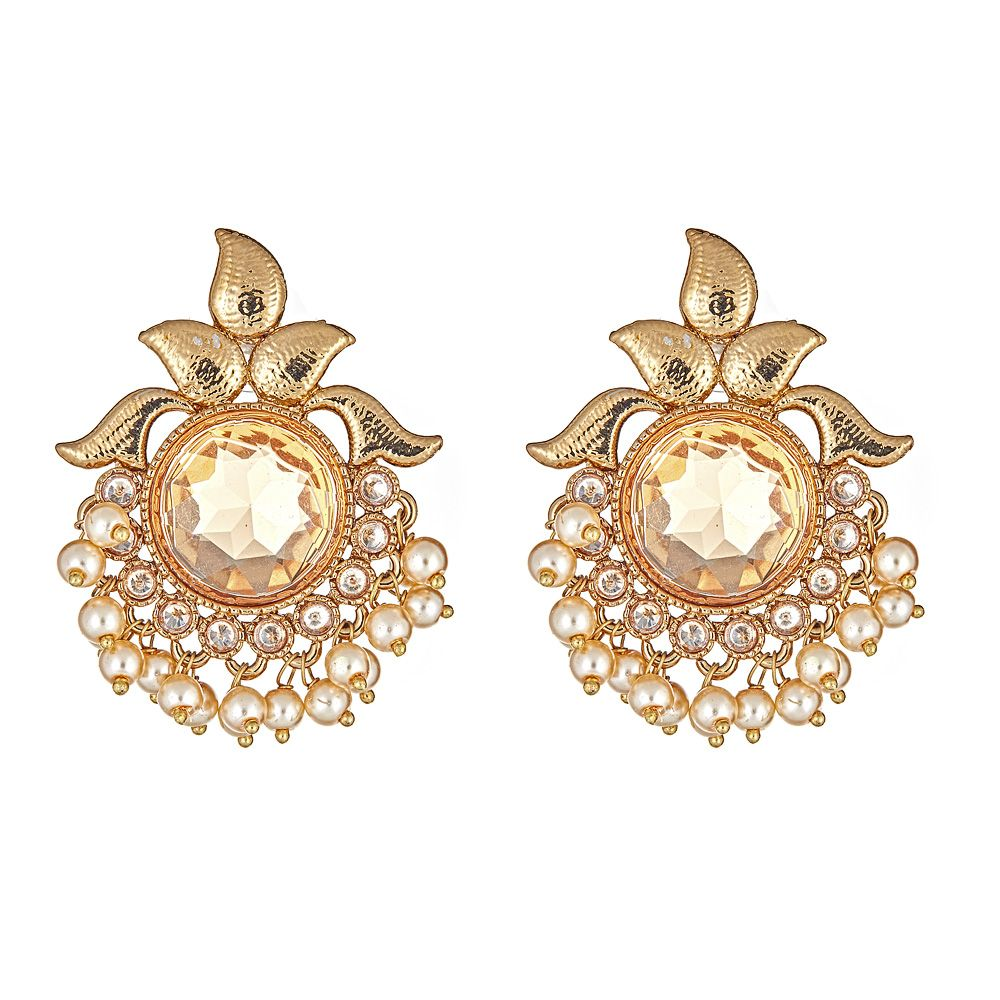 Hael Earrings in Champagne