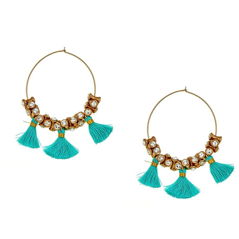 Hamisi Tassel Earrings in Turquoise