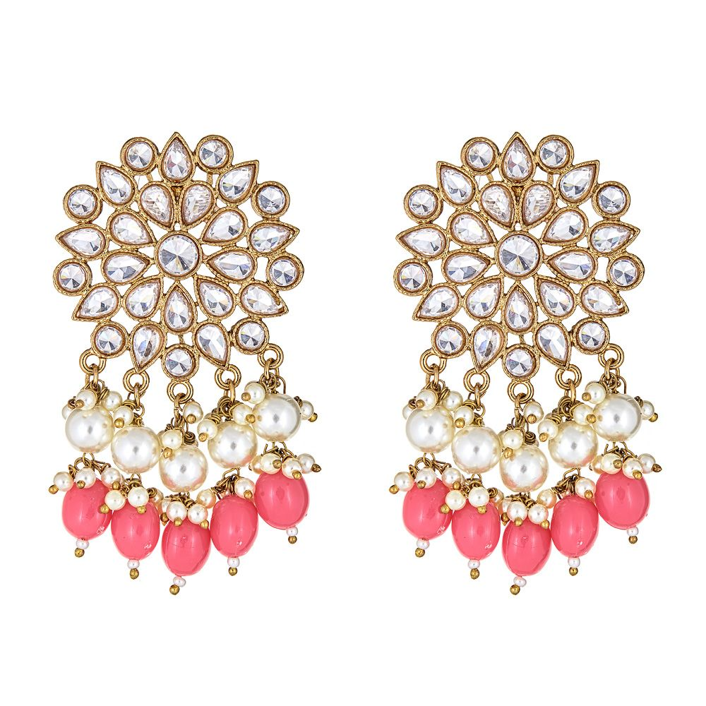 Hattie Earrings in Coral Pink