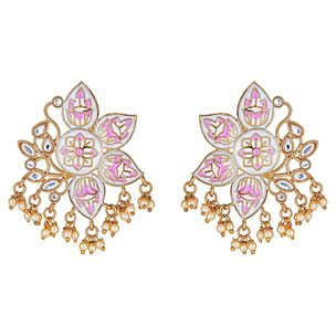 Mabel Floral Earrings in White