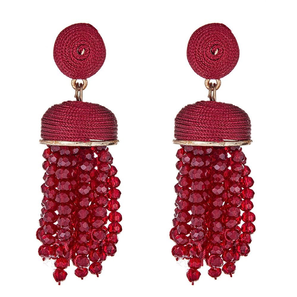 Kamari Drop Earrings in Ruby