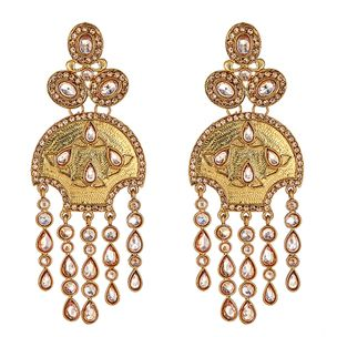 Annika Gold Drop Earrings
