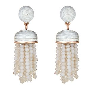 Kamari Drop Earrings in White
