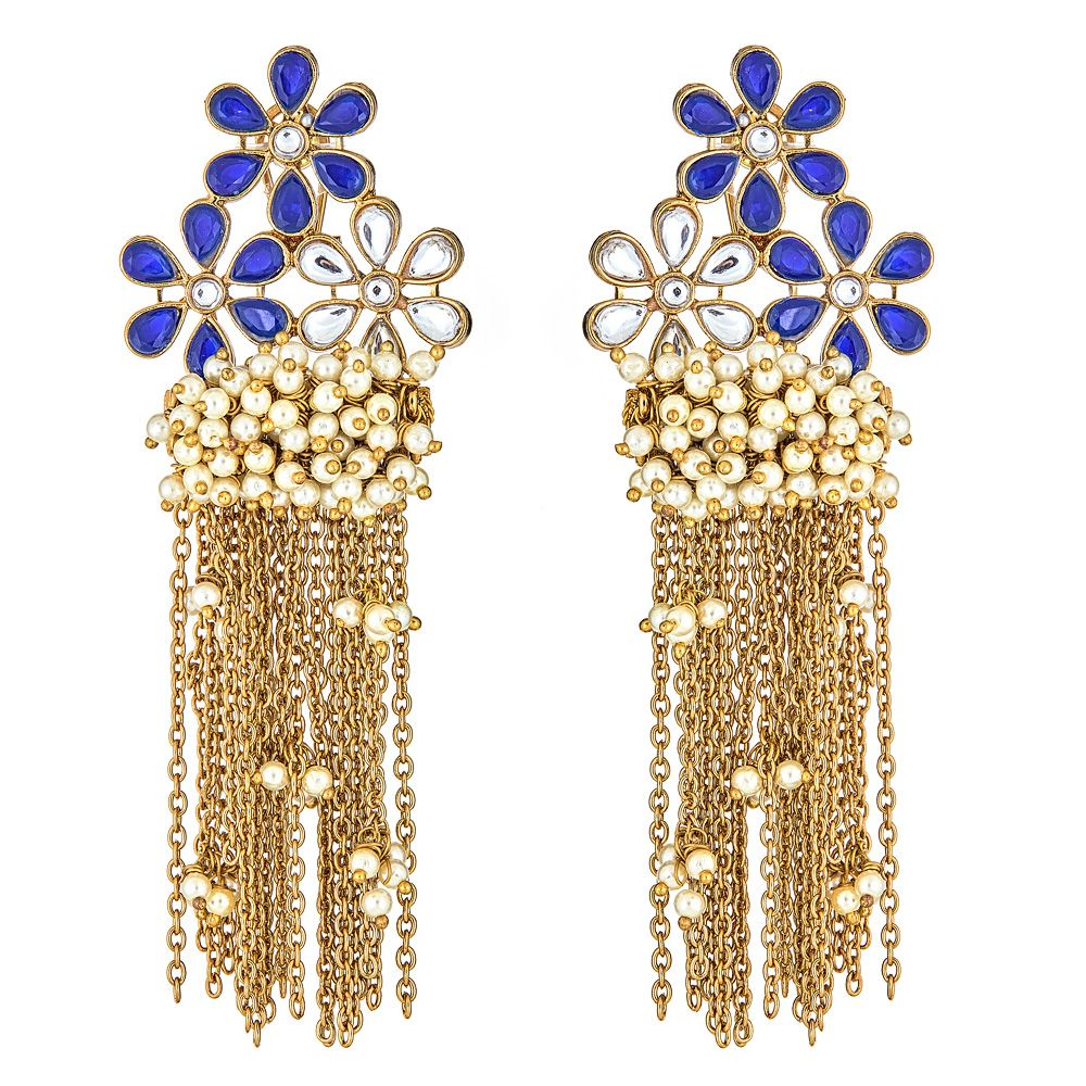 Keely Floral Earrings in Sapphire