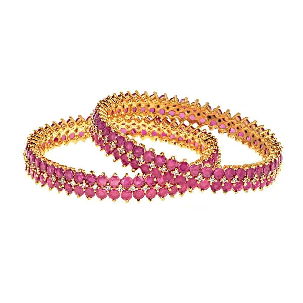 Keva Ruby Bangle Set