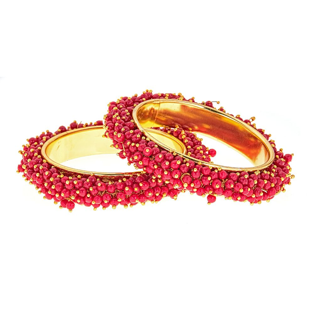 Lila Bangle Set in Red