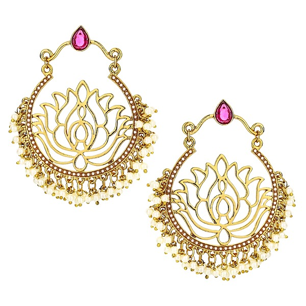 Lotus Earrings in Pink