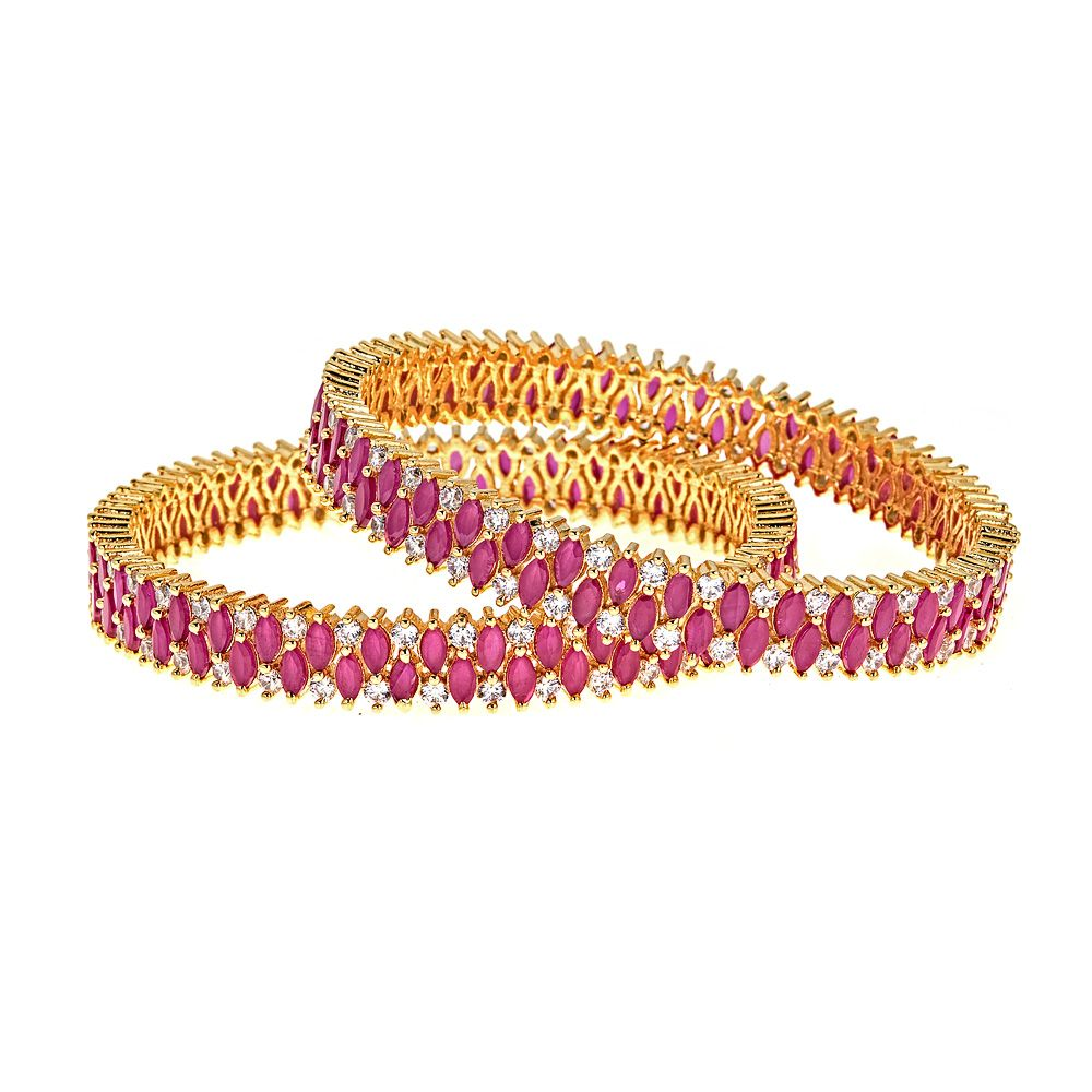 Lux Ruby Bangle Set