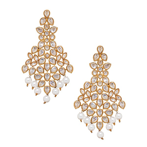 Maharani Earrings in Pearl