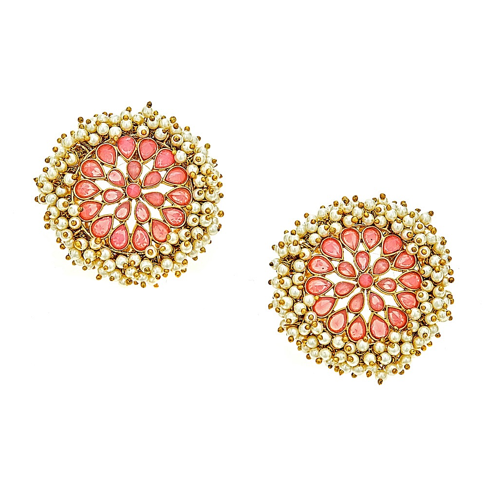 Maya Top Earrings in Pink