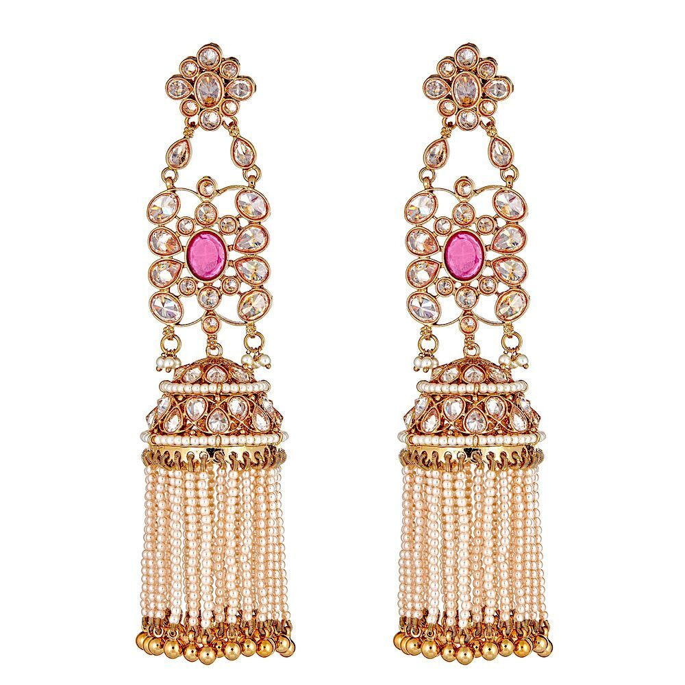 Meera Ruby Drop Earrings