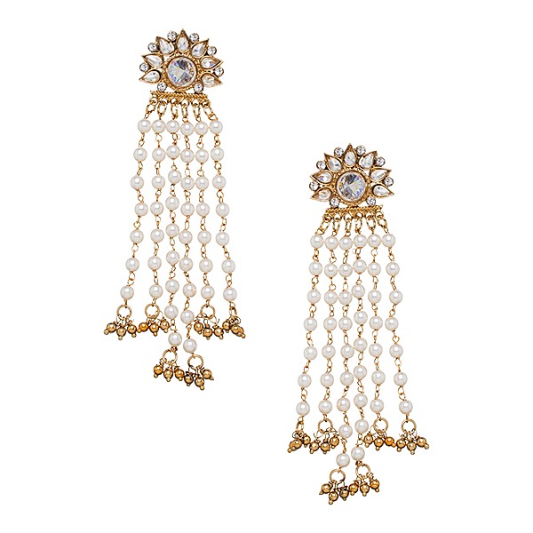 Mishka Earrings in Pearl