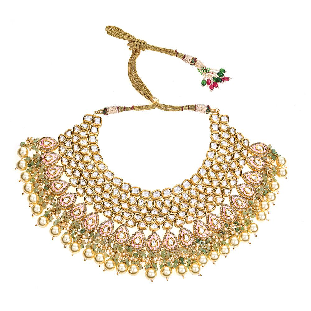 Myra Necklace in Pink