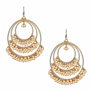 Naida Champagne Hoop Earrings