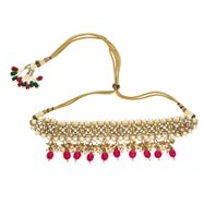 Nara Choker Necklace in Red