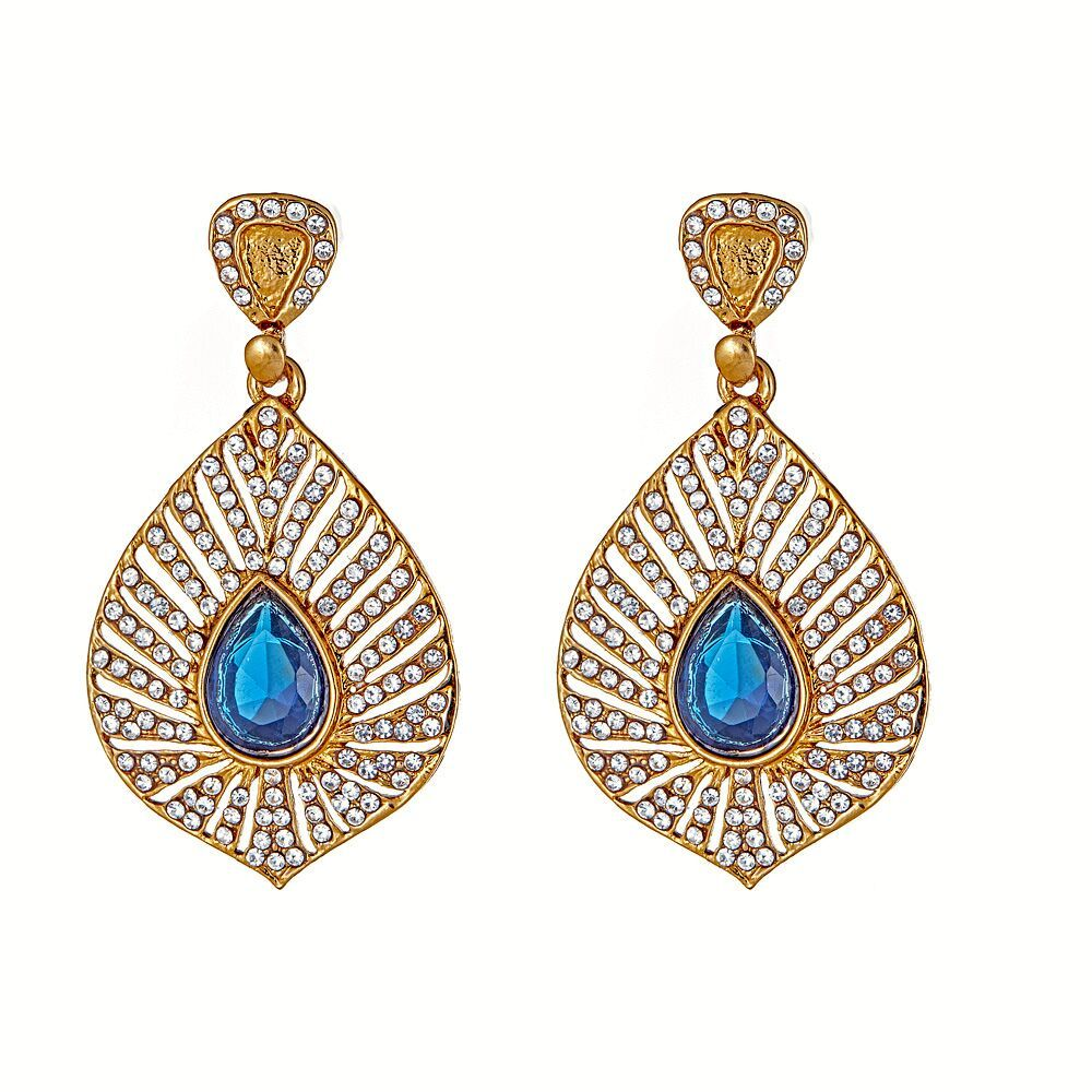 Rafika Earrings in Blue