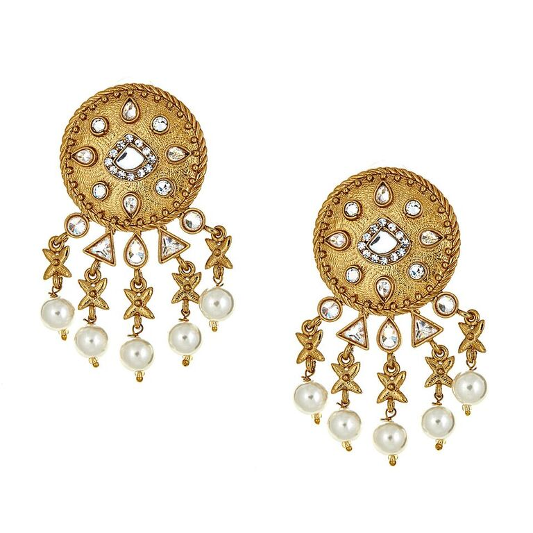 Nova Earrings in Pearl