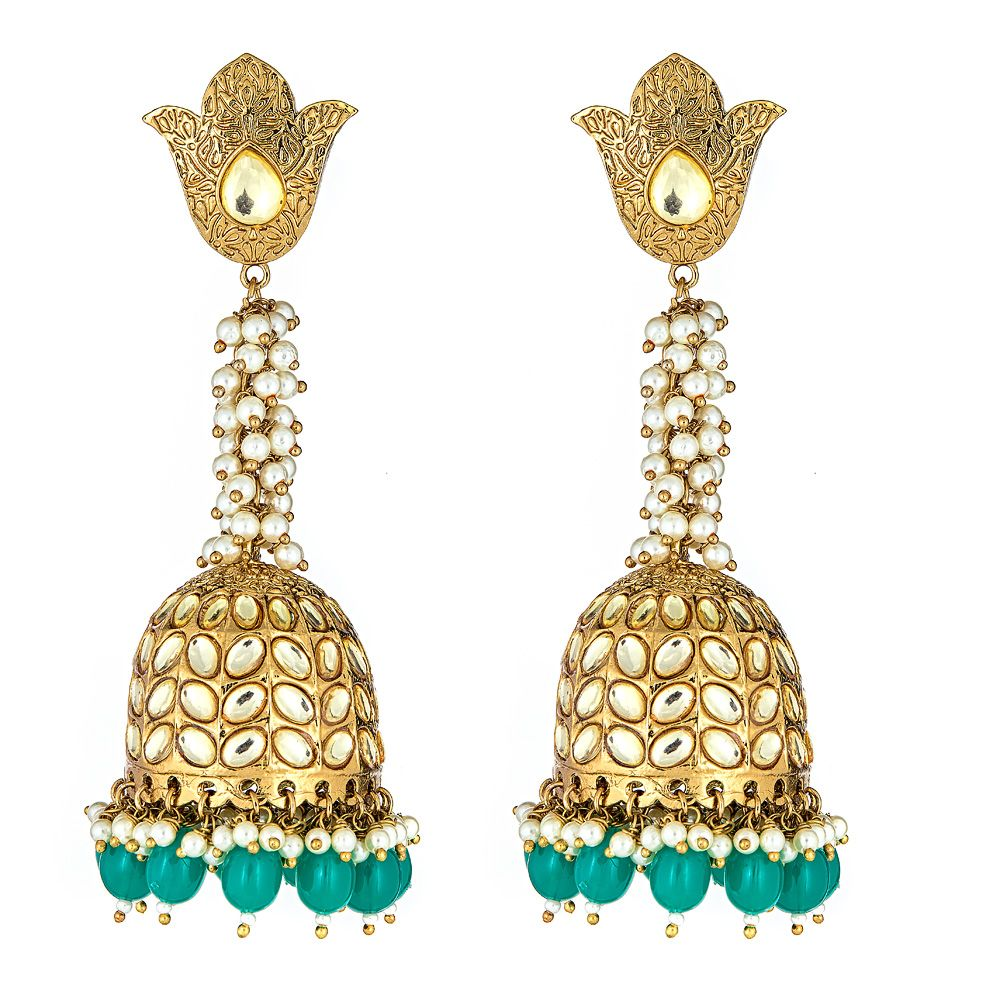 Novalie Drop Earrings in Green