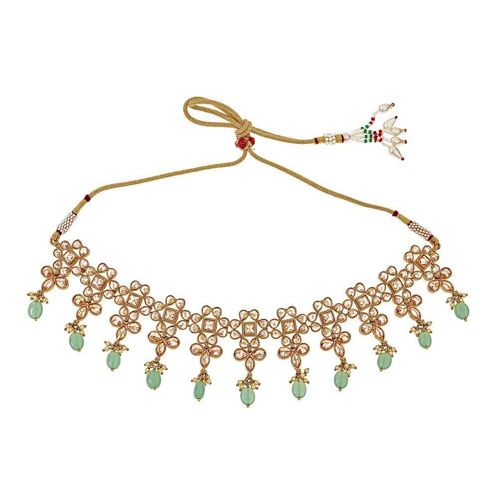 Adiva Light Green Necklace