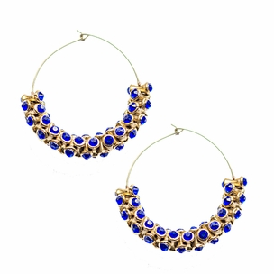 Prisha Earrings in Electric Blue