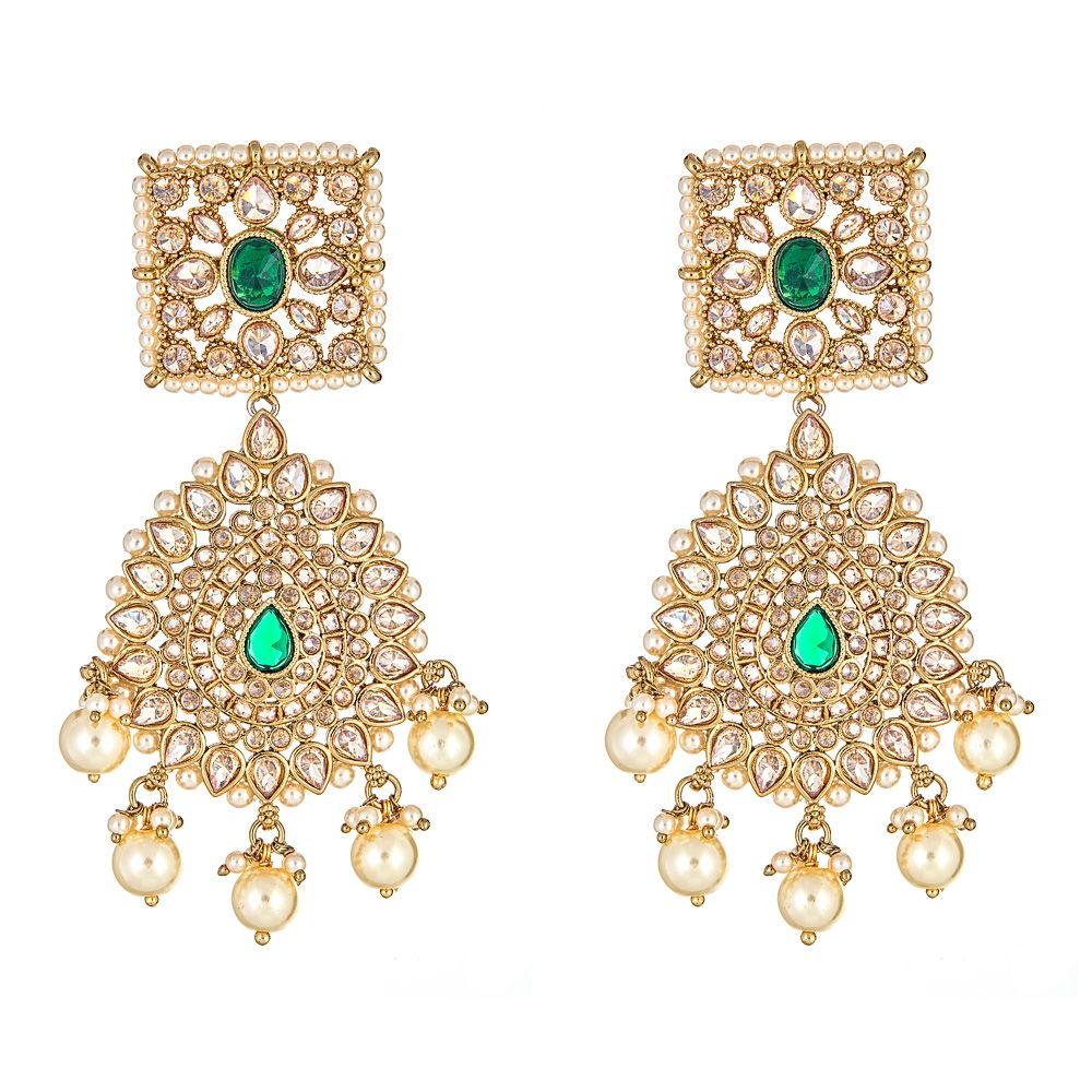 Rashi Earrings in Emerald
