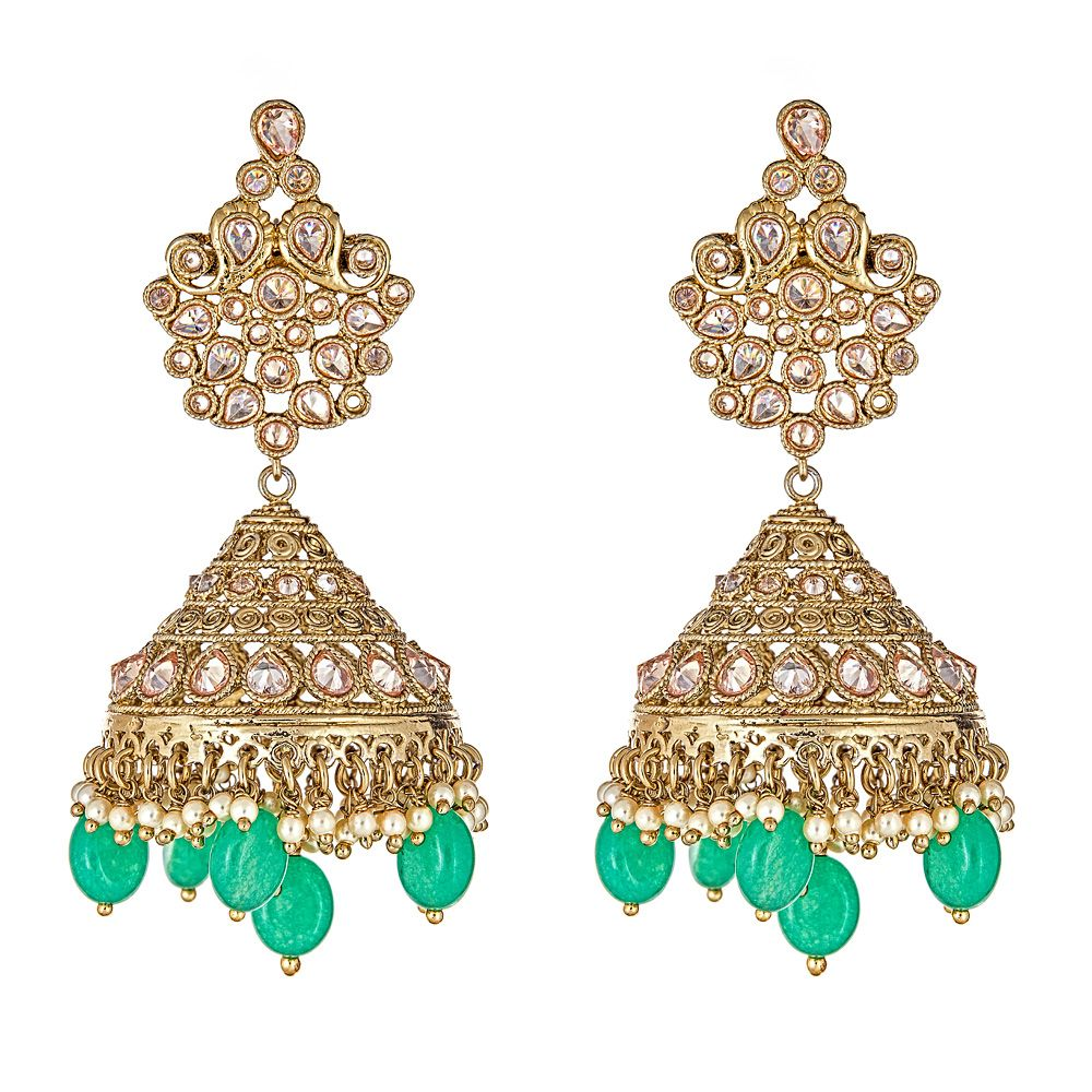 Shanaya Drop Earrings in Sea Green
