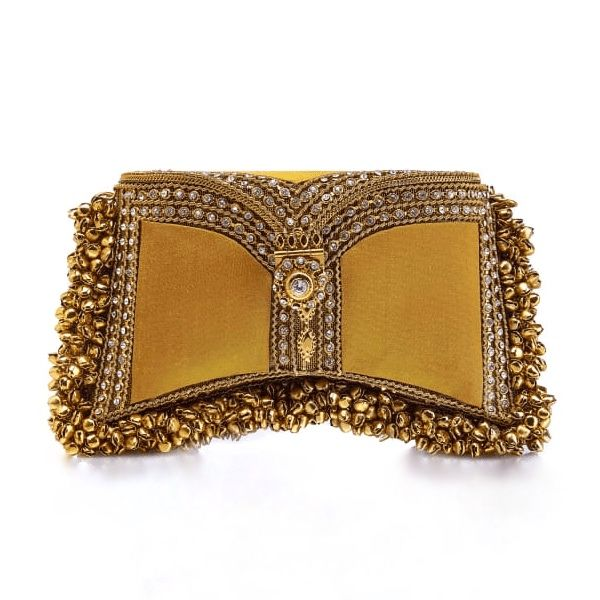 Nargis Clutch in Dark Yellow