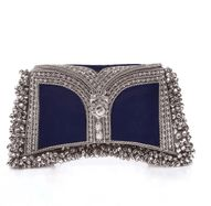 Nargis Clutch in Navy Blue