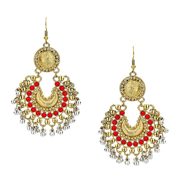 Tribal Earrings in Red