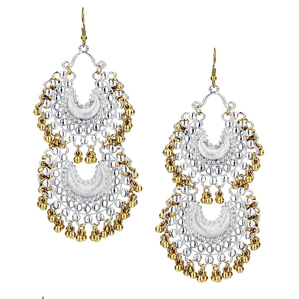 Tribal Earrings in Silver & Gold