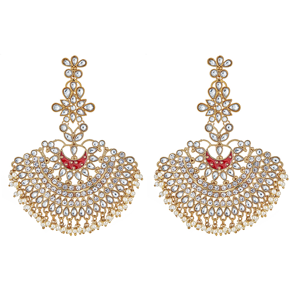 Vanda Drop Earrings in Red