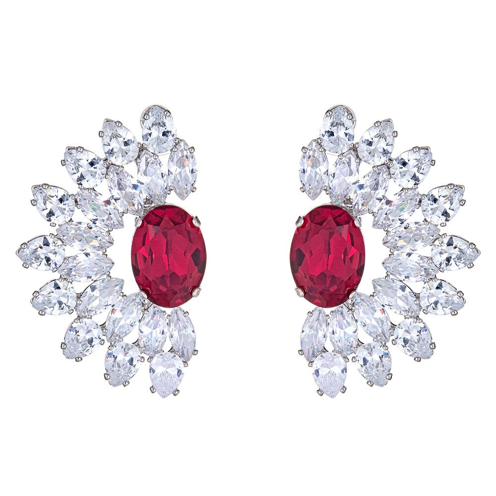 Varro Earrings in Red