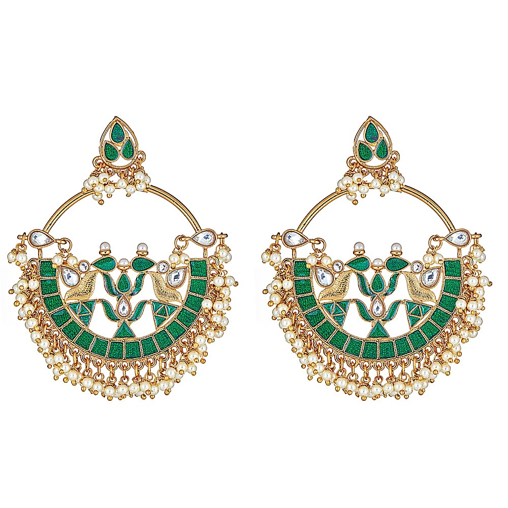 Verena Earrings in Green