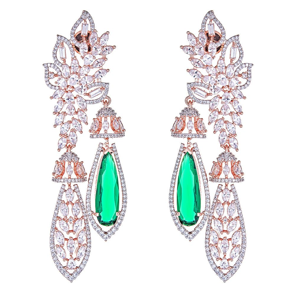 Zaliki Emerald Drop Earrings