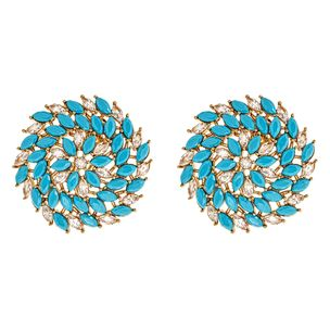 Zoya Stud Earrings in Blue