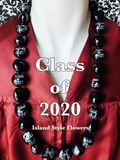 Hawaiian Kukui Nut Graduation Lei-Class of 2020-Custom Lei