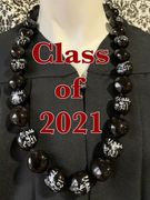 Hawaiian Kukui Nut Graduation Lei-Class of 2021-Custom Lei